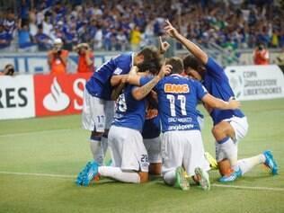 Jogadores do Cruzeiro comemoraram muito gol no Gigante