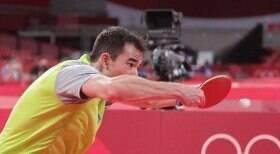 Hugo Calderano bate marca inédita pelo Brasil