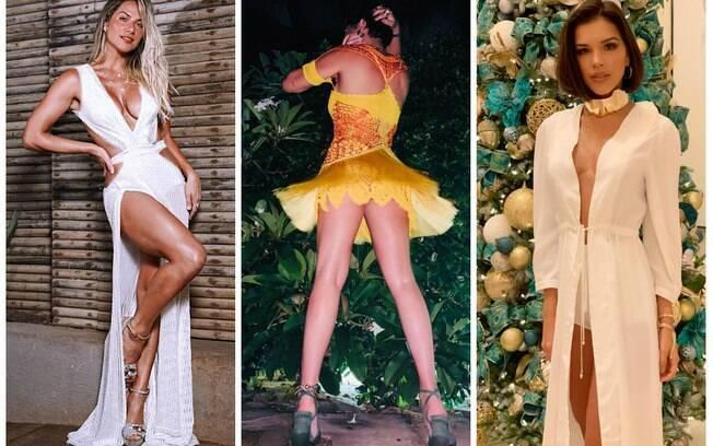 Giovanna Ewbank, Fernanda Paes Leme e Mariana Rios abusaram na sensualidade para passar o ano novo