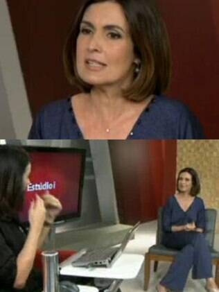 Fátima Bernardes em entrevista ao programa