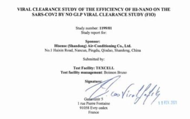 HI-NANO: a nova tecnologia da Hisense inativa a COVID-19 com uma taxa de até 93,54%