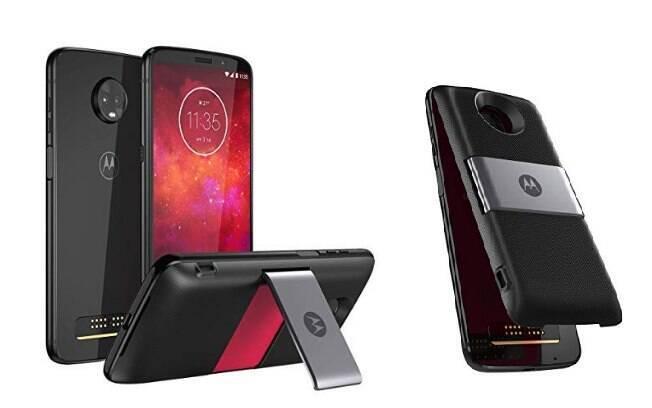 O Smartphone Motorola Moto Z3 Play está na promoção no site da Amazon Brasil