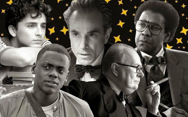 Timothée Chalamet, Daniel Day Lewis, Gary Oldman, Daniel Kaluuya e Denzel Washington são os indicados ao Oscar d emelhor ator em 2018
