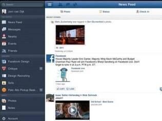 Aplicativo do Facebook tem barra lateral para facilitar navegação entre recursos e aplicativos