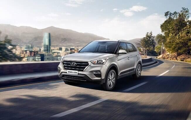 Hyundai Creta é o modelo mais vendido do mês entre os SUVs compactos