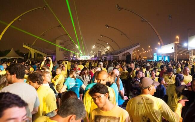 Night Run ocorreu no Sambódromo de São Paulo