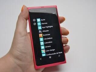 WIndows Phone também mostra aplicativos são mostrados em forma de lista