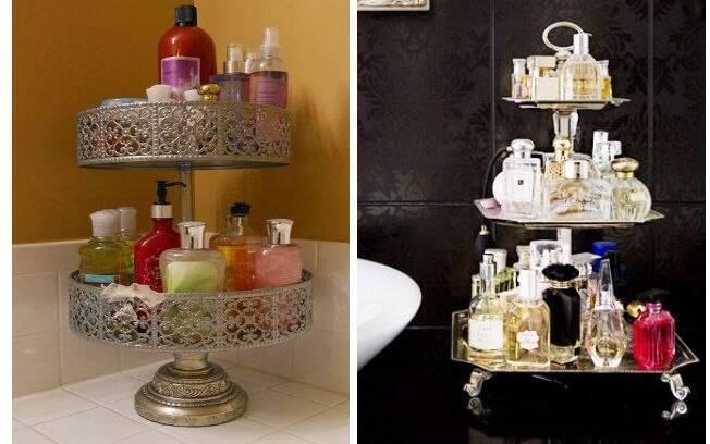 Usar bandejas ou porta docinhos de prata que combinam com a decoração é uma ótima opção