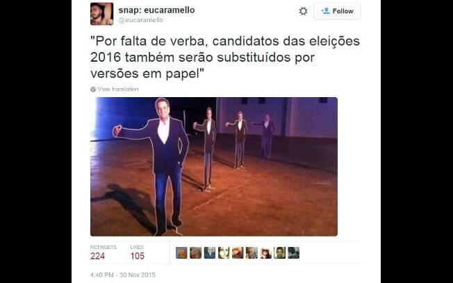 Memes sobre as eleições de 2016. Foto: Reprodução/ Twitter