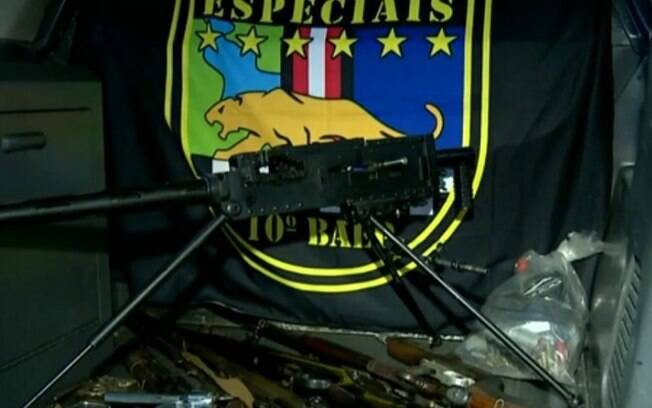 Baep prende suspeito de crime organizado com arma antiaérea em Hortolândia