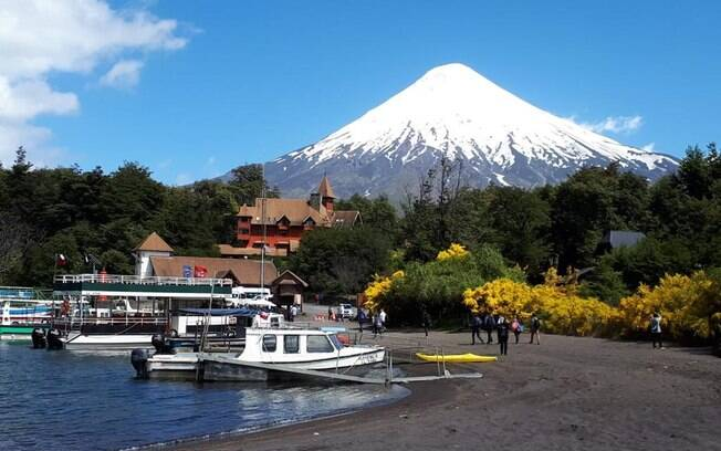 No roteiro com o Nissan X-Trail, pudemos ver o Vulcão Osorno, que tem 2.652 metros de altura