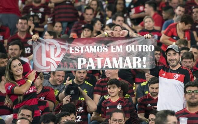 Torcida do Flamengo fez festa no Maracanã