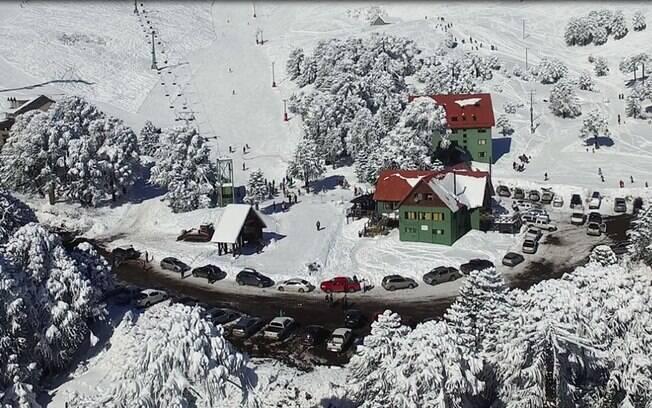Vista do centro de esqui Las Araucarias