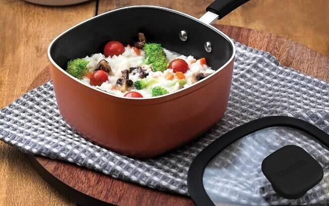 Com ingredientes mais saudáveis, o Risoto de legumes e mussarela de búfala é uma opção ideal para quem busca uma refeição deliciosa e nutritiva