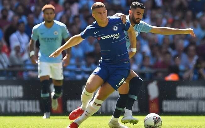Final da Supercopa da Inglaterra entre Manchester City e Chelsea