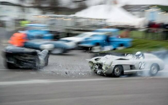 Os pilotos Jochen Mass e Tony Madeira não se feriram durante o acidente na Inglaterra