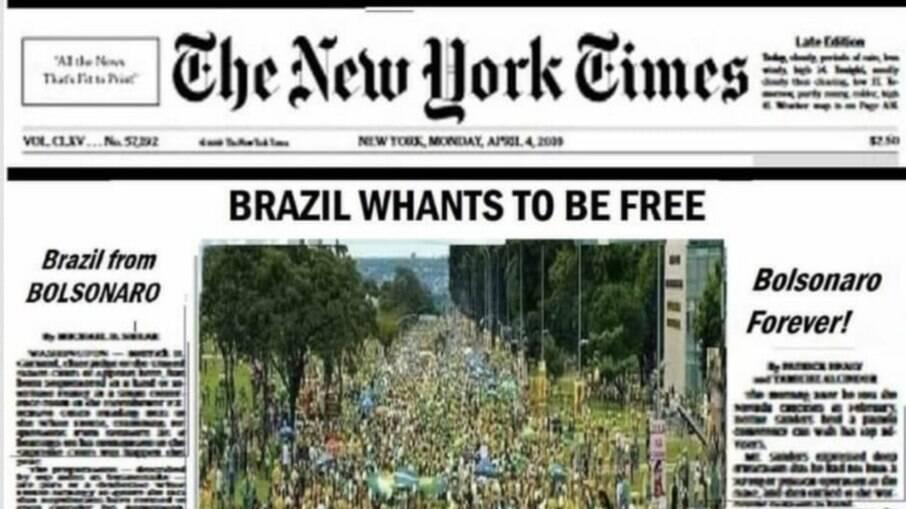 Fake News: The New York Times desmente falsa capa que exaltava Bolsonaro