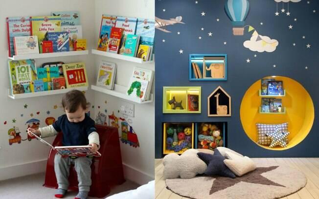 Organização também é essencial em um quarto de criança que segue a linha do método montessoriano de educação