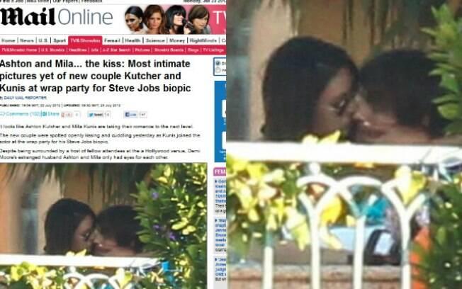 Ashton Kutcher e Mila Kunis foram fotografados aos beijos