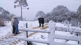 Onda de frio fez cair neve em 5 cidades do Brasil; veja quais