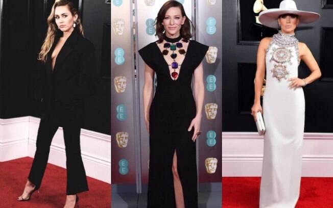 O BAFTA e o Grammy aconteceram no domingo (10) e os looks das famosas deram o que falar nas duas grandes premiações
