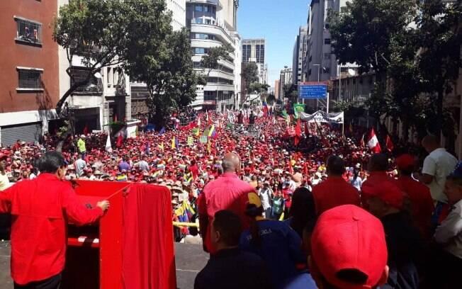Nicolás Maduro atacou Donald Trump e Juan Guaidó durante pronunciamento em Caracas, na Venezuela