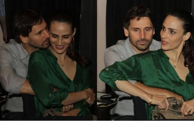 O ator Murilo Rosa e a mulher, a modelo Fernanda Tavares, em festa no Rio de Janeiro
