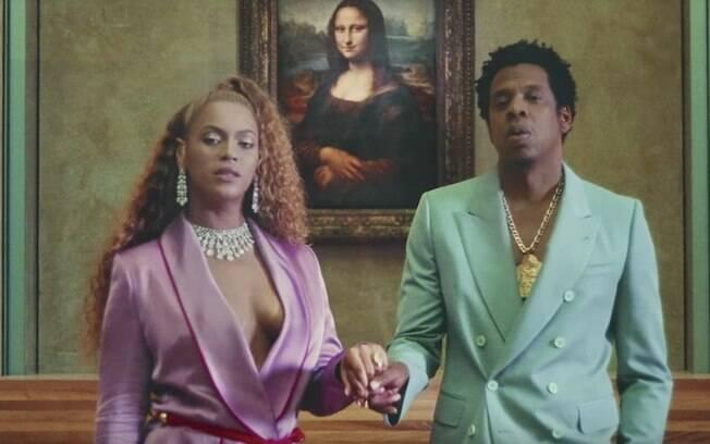 Beyonce e Jay-Z no clipe Apeshit, de seu novo álbum de trabalho
