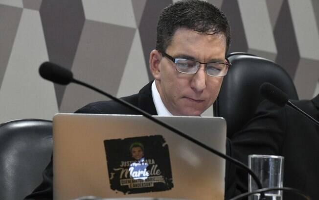 Jornalista americano Glenn Greenwald durante sabatina no Senado para explicar 'Vaza Jato'