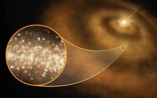 Cientistas britânicos revelaram que luz identificada em emissão de microondas são nuvens de diamantes na Via Láctea
