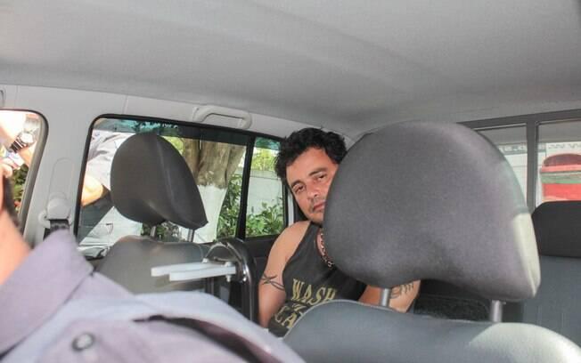 Visivelmente alterado, Renner foi detido após um acidente de carro na zona sul da capital paulista. Foto: Marco Ambrosio/AgNews