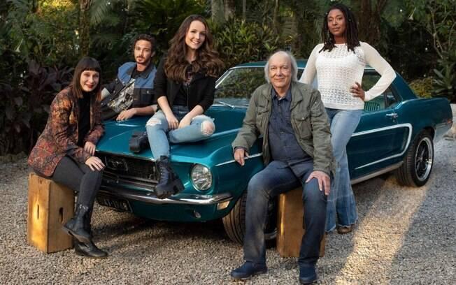 Larissa Manoela e Erasmo Carlos vivem avô e neta no filme