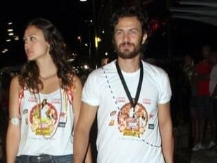 Gabriel Braga Nunes e Bianca Joy Porte juntos em Salvador