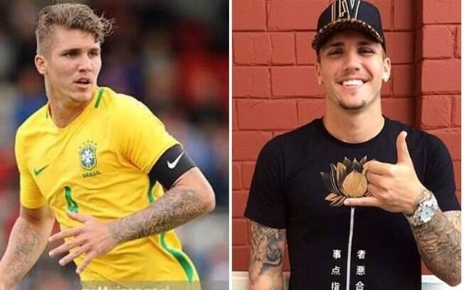 Jogadores da Seleção Brasileira usando roupa da Ellegoá