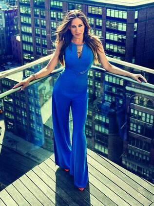 Sarah Jessica Parker veste macacão da grife brasileira Maria.Valentina