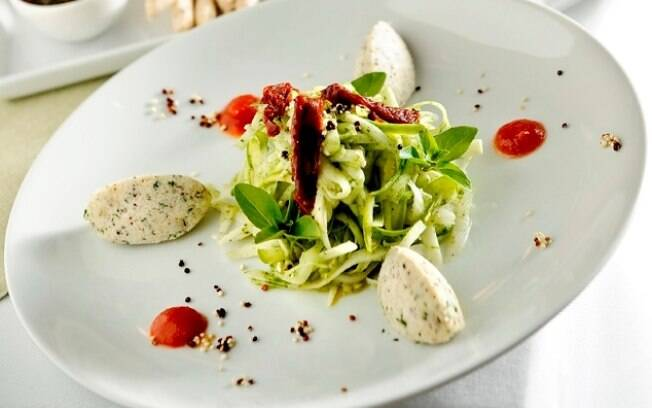 Foto da receita Espaguete de legumes pronta.