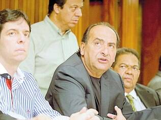 Infiel. Kalil anunciou apoio ao PSDB ao lado de Dinis Pinheiro, candidato a vice na chapa de Pimenta