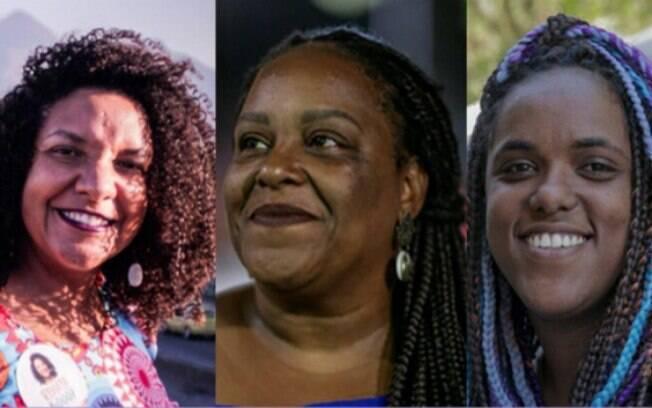 Renata Souza, Mônica Francisco e Dani Monteiro são as herdeiras de Marielle Franco na Alerj