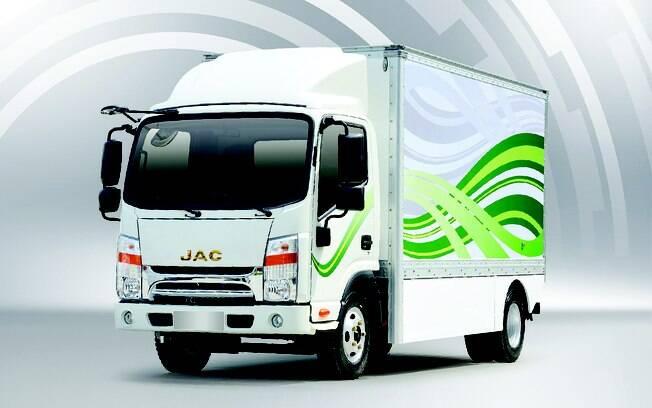 JAC iET 1200, caminhão elétrico . Foto: Divulgação