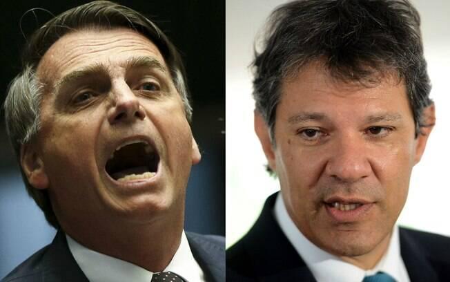 Pesquisa Ibope divulgada na segunda (1) aponta segundo turno entre Fernando Haddad (PT) e Jair Bolsonaro (PSL)