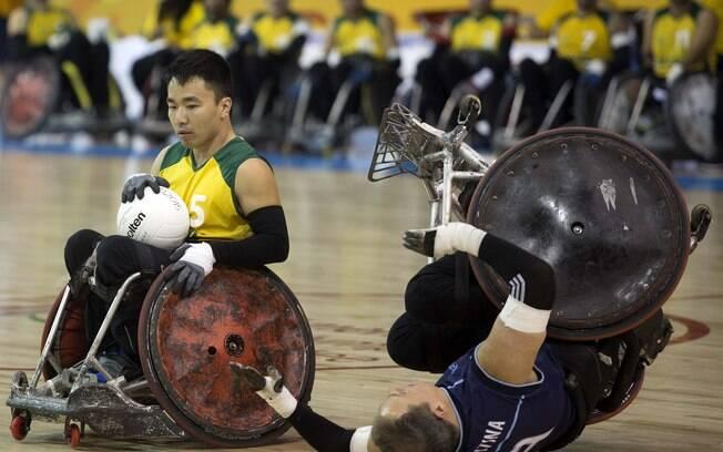 Brasil vence fácil a Argentina pel rúgbi em cadeira de rodas