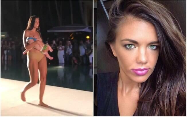 Buscando normalizar a questão da amamentação em público, a modelo Mara Martin desfilou enquanto amamentava a filha