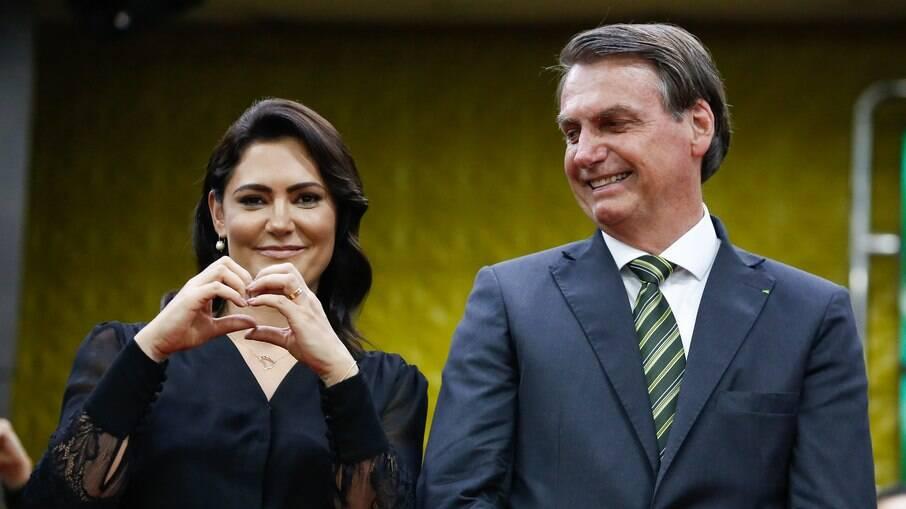 Michelle e Bolsonaro