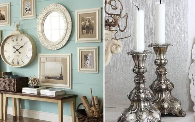 Relógios e castiçais fazem alusão a Horloge e Lumière, criados do castelo que viraram objetos