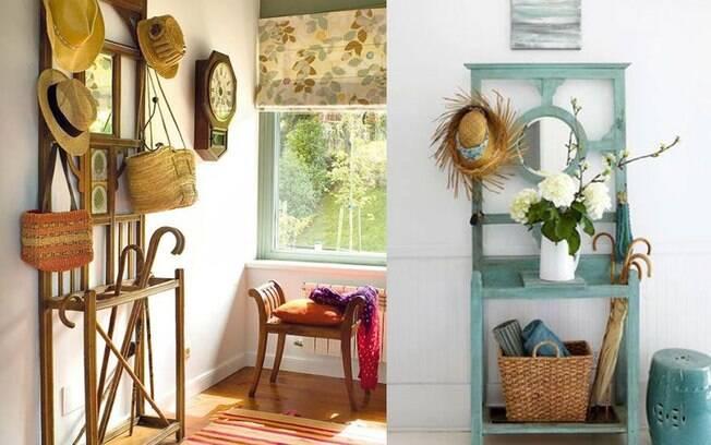 Todo o frescor dos mancebos, em madeira natural ou pintados. São super charmosos para a entrada de casa