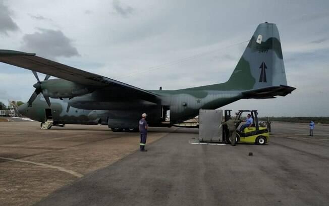 Aeronaves foram despachadas com diversos equipamentos para auxiliar população do estado