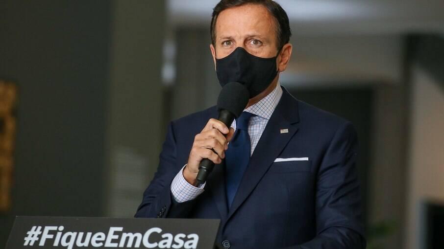 Governador de São Paulo, João Doria vai anunciar paralisação do futebol no estado