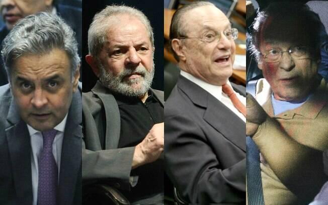 Justiça define futuro de Aécio Neves, Lula, Paulo Maluf e José Dirceu nesta semana