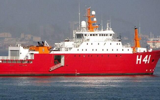 Brasil enviou um navio polar para ajudar nas buscas