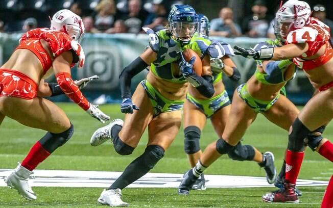 Legends Football League é a NFL para mulheres. E de lingerie